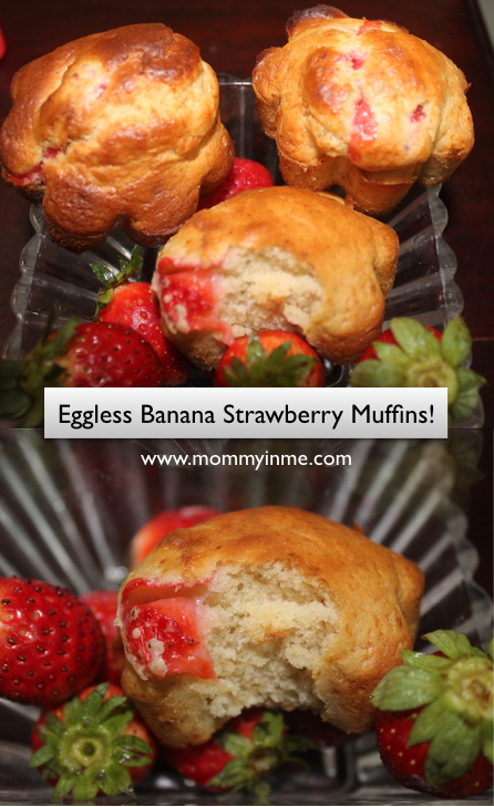 Christmas is round the corner, have you finalized your baking plans? If not, here is a tempting Recipe perfect for Christmas Party - Strawberry Banana Muffins! #muffins #muffinrecipe #strawberrybananamuffin #cake #bake #christmas #eggless
