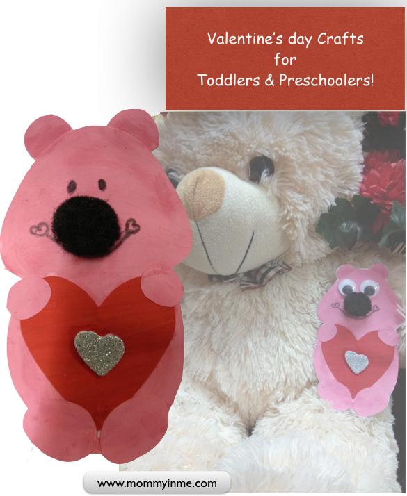 Cute valentine's day crafts for kids , toddlers and Preschoolers #crafts #toddlercrafts #valentinesdaycrafts #kidscrafts
