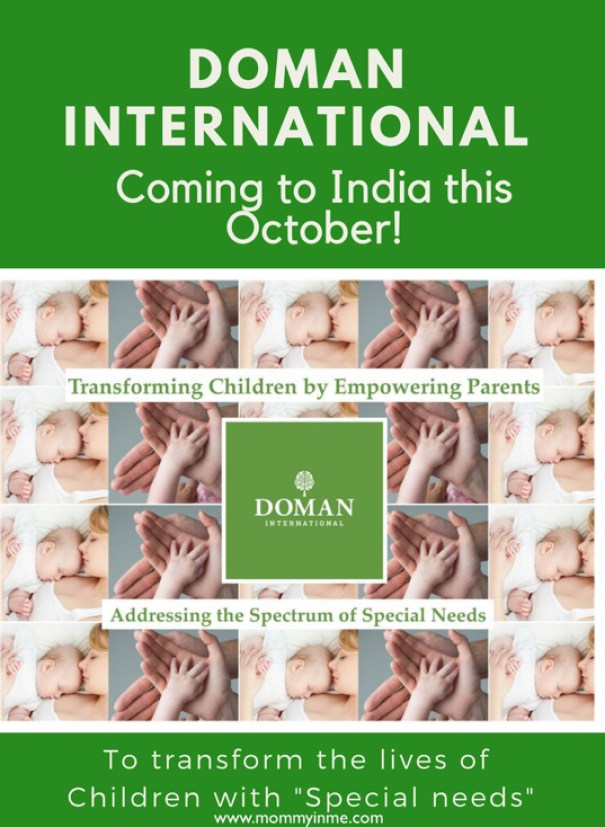 If you are parents of children with special needs having neurological disorders as Autism, Cerebral palsy, Downs Syndrome, then connect Doman International. Doman International is coming to India for their Doman Method course Parent training in Delhi from 17th to 20th October 2018. #specialneeds #specialchild #domaninternational #trainings #parenteducation #autism #downsyndrome #cerebralpalsy