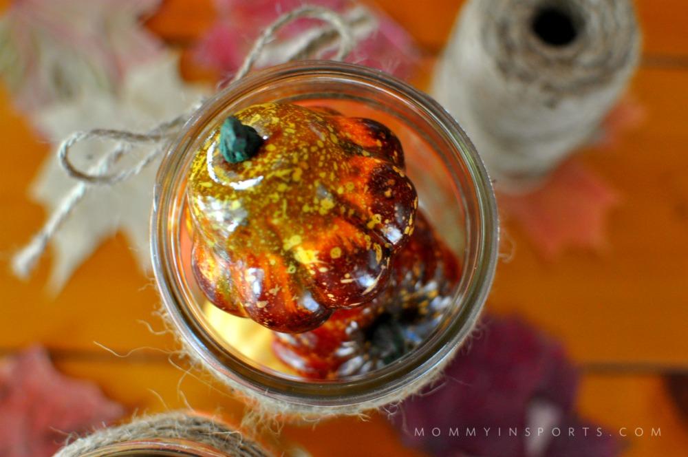 Easy Fall Decorations Mason Jar Overhead