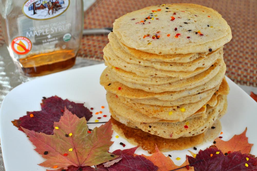 Fall Leaf Whole Wheat Pancakes