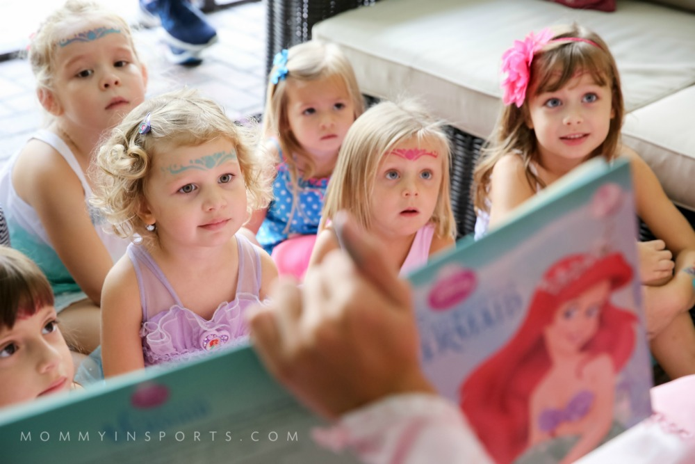 Ariel Party Kids reading