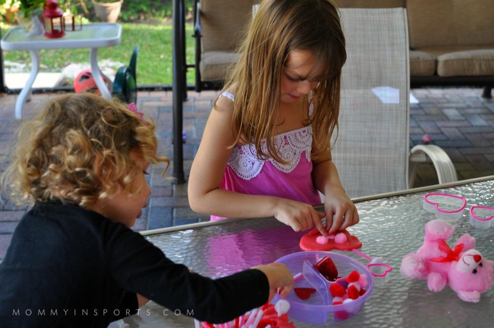 Homemade Valentines Playdoh kids