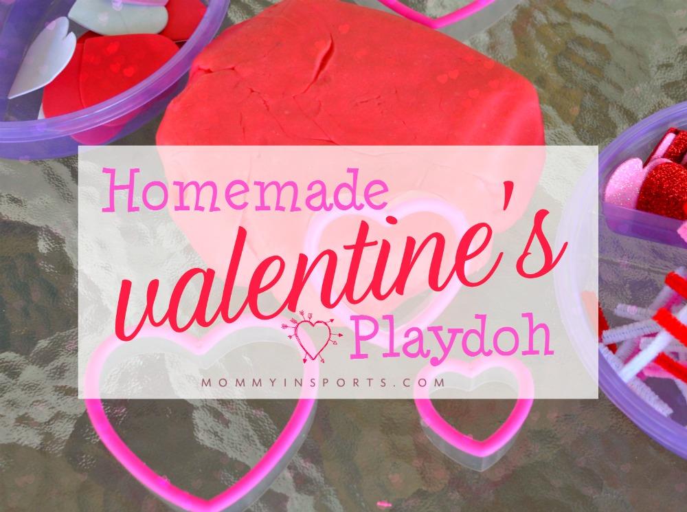 Homemade Valentines Playdoh