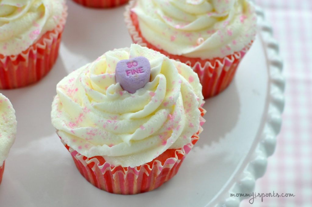 Looking for a sweet treat for Valentine's Day? Try whipping up these delish Pink Velvet Cupcakes with White Chocolate Frosting!