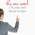 The One Word I Try Like Hell Never to Say