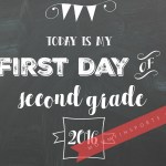 FREE Chalkboard First Day of School Printables