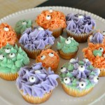 Natural Food Dye Monster Cupcakes
