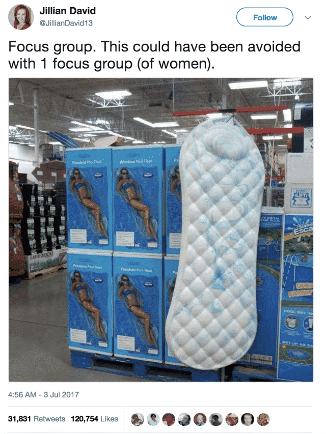 Pool Float Looks Like a Giant Floating Maxi Pad and Its