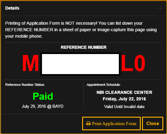 nbi clearance online renewal application