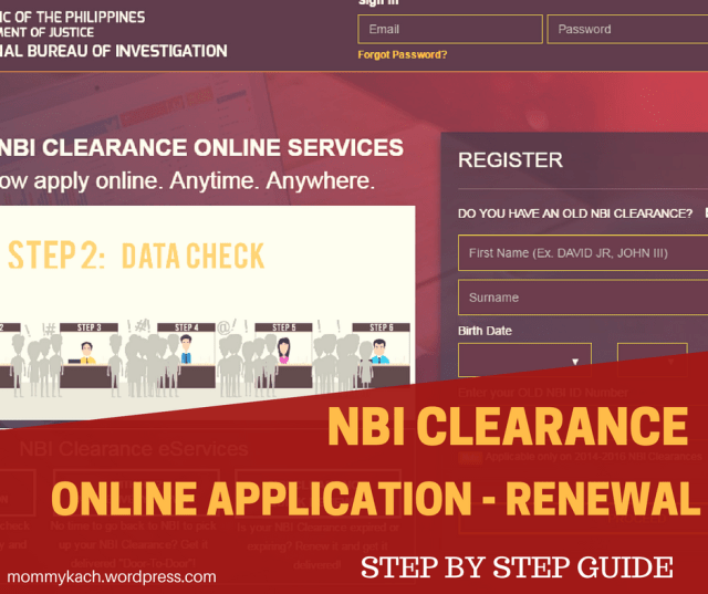 nbi clearance online application renewal