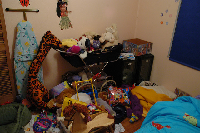How do I keep my four-year-old's room clean?