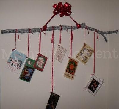Hand Crafted Homemade Christmas Card Holder Display