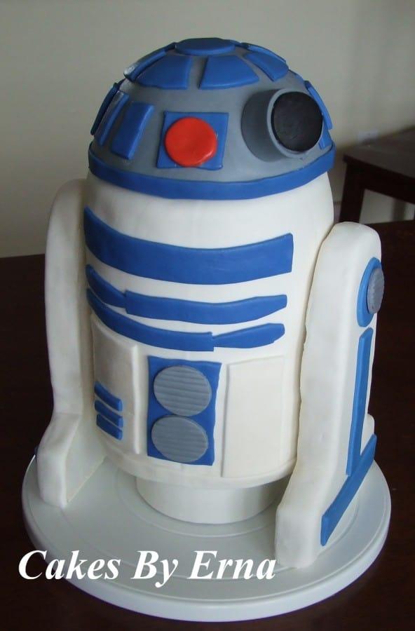 R2 D2 Birthday Cake Mommy Moment