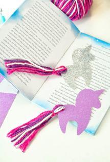 DIY Unicorn Bookmark with Free Unicorn Printable