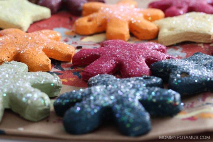 Salt dough ornament recipe - finished ornaments