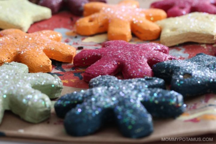 Salt dough ornament recipe - finished ornaments