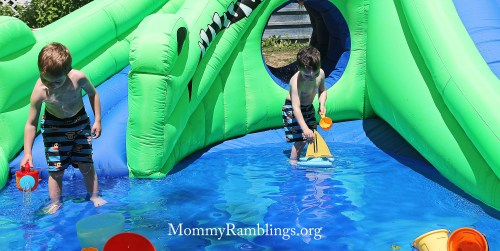 blast zone ultra croc inflatable water park review exclusive