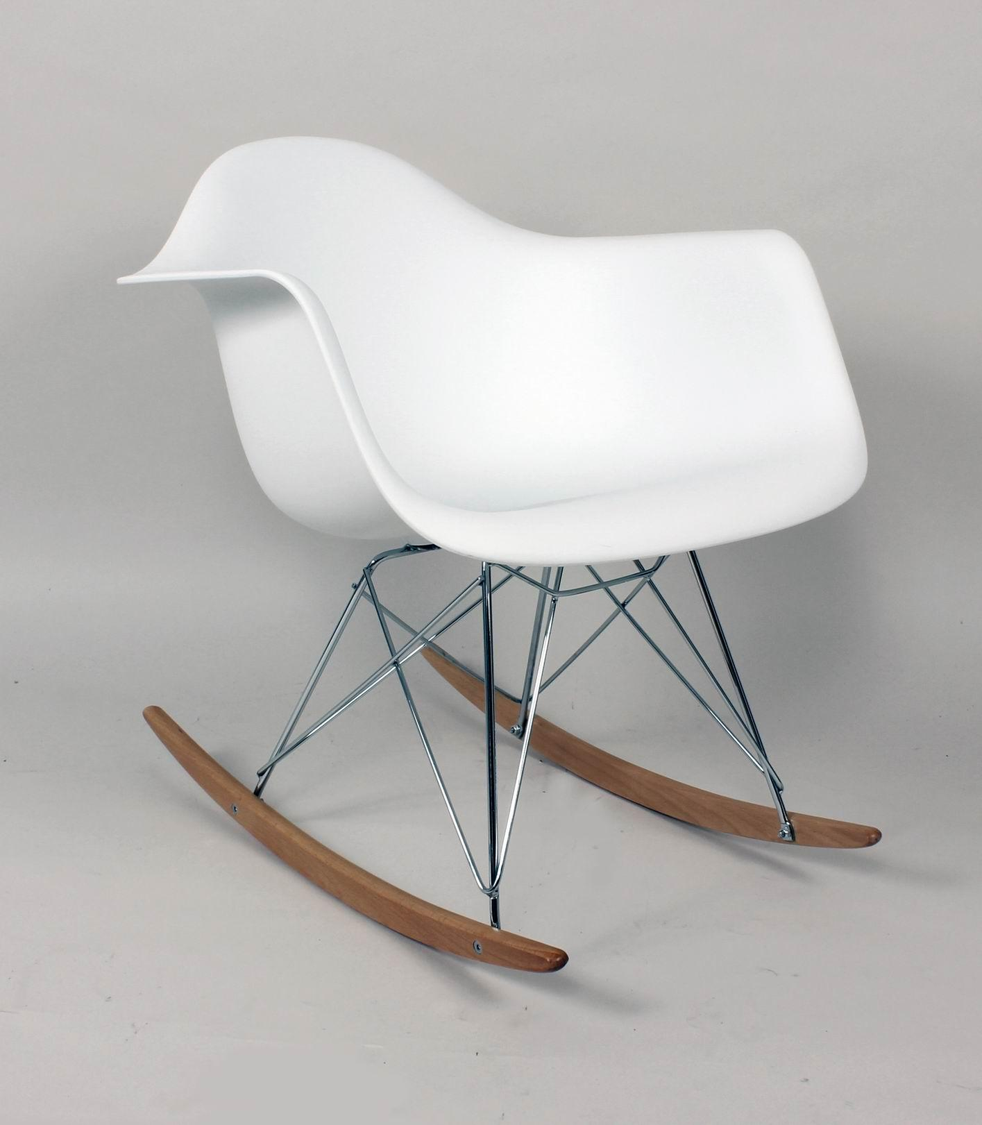 this fabulous rocking chair was originally designed by charles and ray eames whom happen to be two of the most influential designers of the modern era