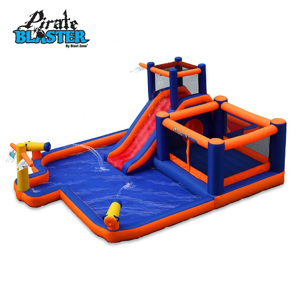 blast zone pirate blaster inflatable water park review special