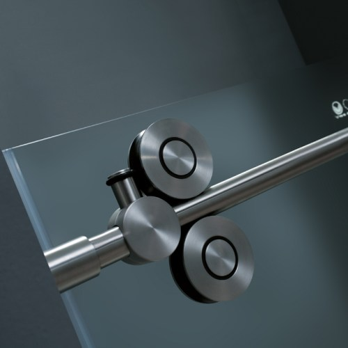Stainless Steel Accents Shower Doors #curbappeal