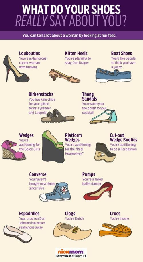 What your shoe choice says about you.