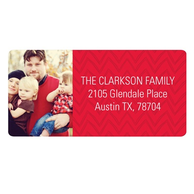 Chevron Cheer Address Label #PearTreeGreetings