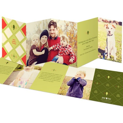 Five Panel Argyle Holiday Card #PearTreeGreetings