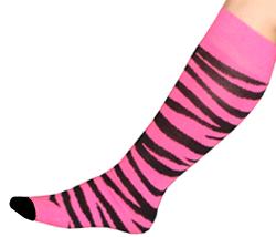 Pink-Black-Animal-Print-Knee-Socks-427