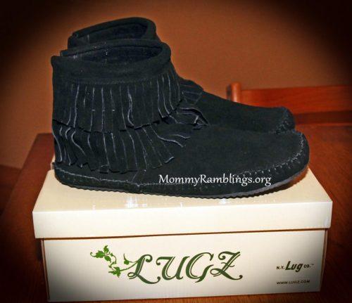 Lugz Black Moc Boot