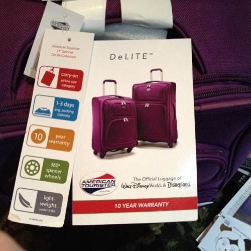 Official luggage of Edward!!! #disneyside