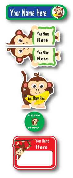 Lovable Labels Monkey Daycare Pack