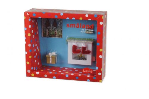 Lundby Smaland Christmas Fireplace Set Boxed