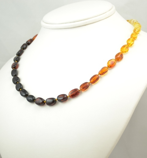 Amber healing-necklace-rainbow sunshine