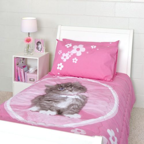 Rachael Hale So Sweet Kitten Reversible Quilted Comforter Set