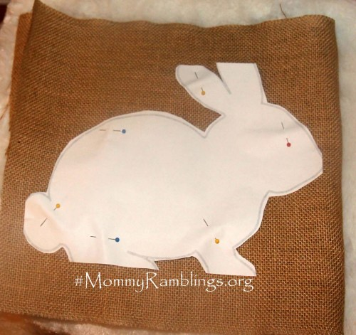 Burlap Big Bunny 1