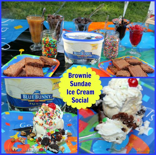 blue bunny ice cream social collage