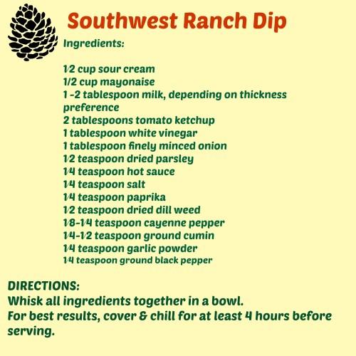 Southwest Ranch dip recipe