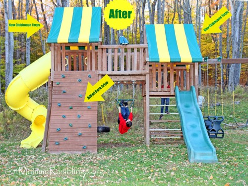 swing set after