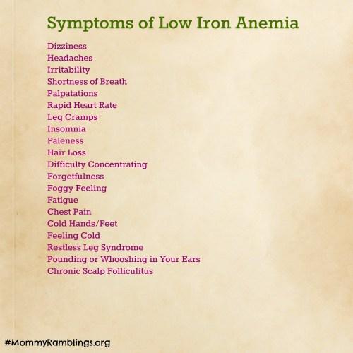 low iron symptoms