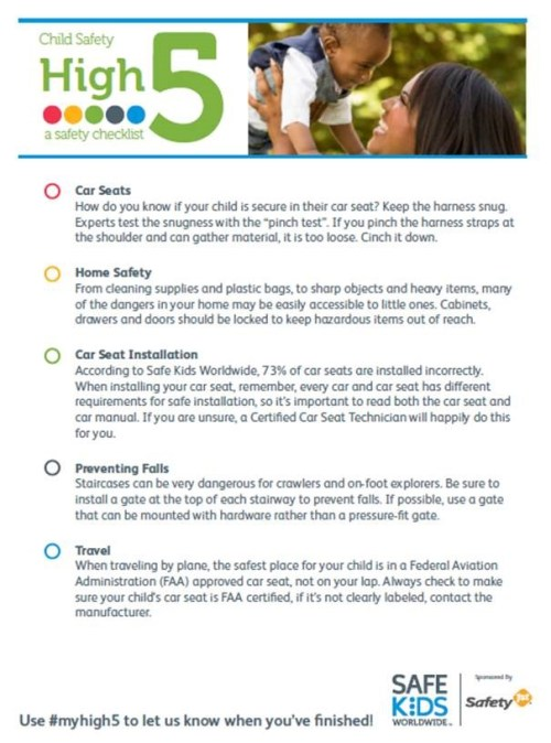 safety 1st safety tips