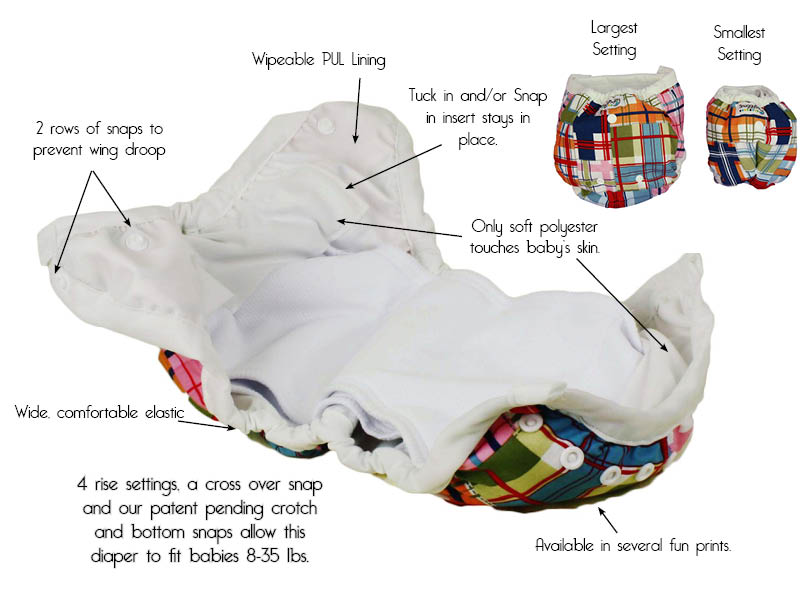 snuggy baby diaper details