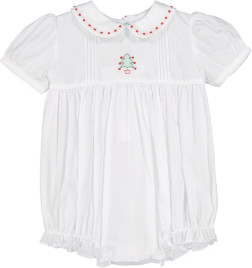 edca2a7e75e0 How cute is the Tree Bubble Romper for baby girls? I just love this look  with its beautiful hand embroidery and smocking.