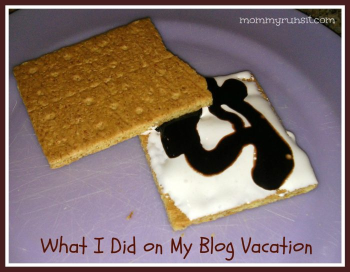What I Did on My Blog Vacation   Mommy Runs It