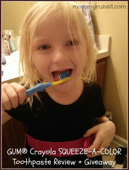 GUM Crayola SQUEEZE-A-COLOR Toothpaste | Mommy Runs It