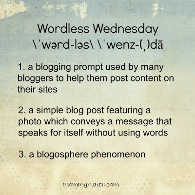 Wordless Wednesday (Kind Of) | Mommy Runs It