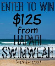 Giveaway: $125 Gift Code for Hapari Swimwear | Mommy Runs It
