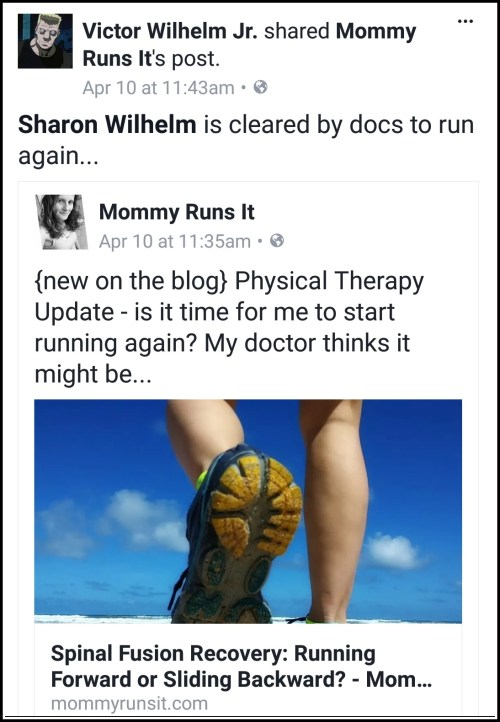 Spinal Fusion Recovery Update: Runner Not Running | Mommy Runs It