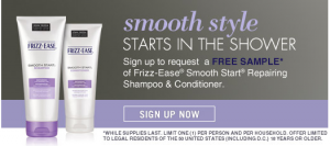 john frieda frizz-ease sample
