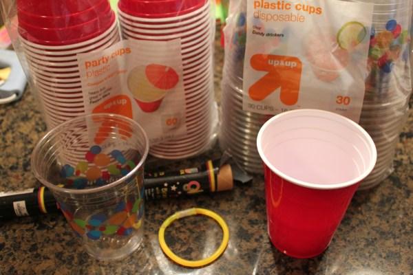 Frugal Sleepover Fun Glow-in-dark Cups - Mommysavers
